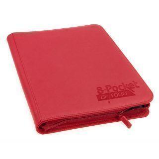 Álbum 8 - Pocket QuadRow Zipfolio Xenoskin Rojo