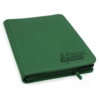 Álbum 8 - Pocket QuadRow Zipfolio Xenoskin Verde