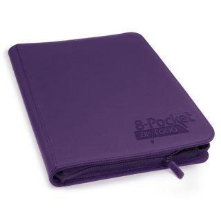 Álbum 8 - Pocket QuadRow Zipfolio Xenoskin Violeta