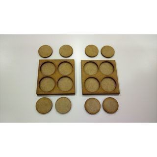 2 Movement Tray 60x60 mm, bases 25mm