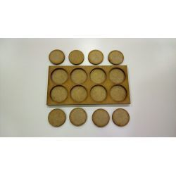 Movement Tray 120x60mm, bases 25mm
