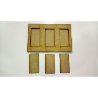 Movement Tray 120x80mm, 3 bases 25x50mm