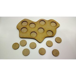 Irregular Movement Tray 180x110, 8 bases 25mm