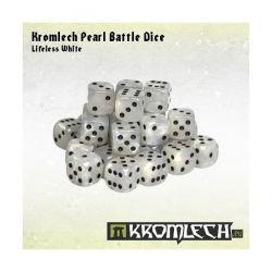 Kromlech Pearl Battle Dice - Lifeless White