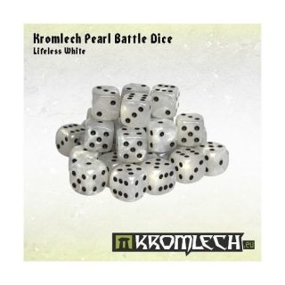 Kromlech Pearl Battle Dice - Lifeless White