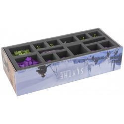 Foam tray for Scythe expansion Invaders from Afar with 14 compartments