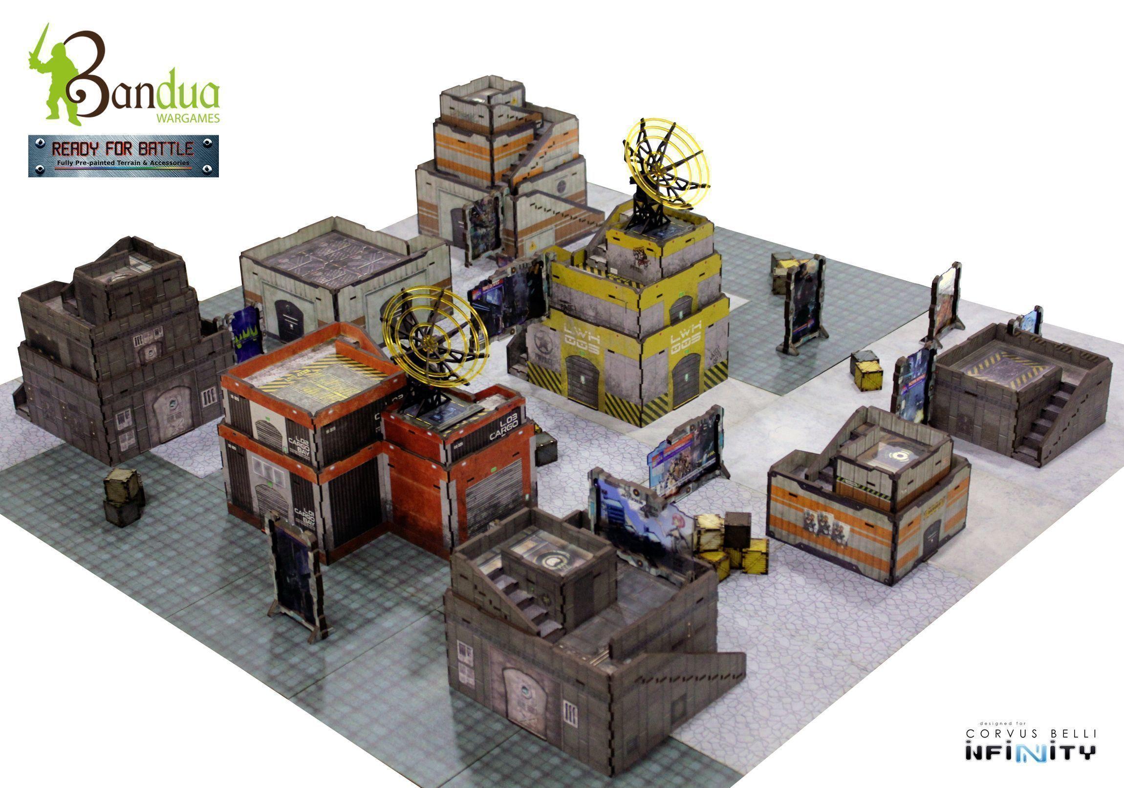 Black Market Docks Infinity Table - Bandua Wargames