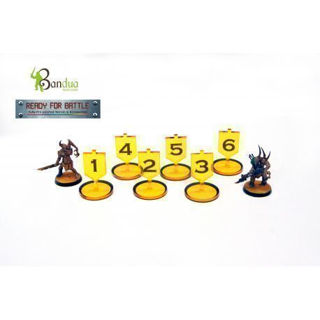 Tokens Objective Yellow compatible with 40k