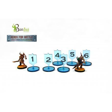 Tokens Objective Blue compatible with 40k