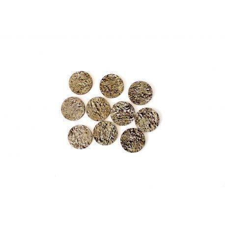 40 mm stones X5 - Pre Painted Bases ( 40k , AoS, Infinity , Malifaux, Warlord Games)