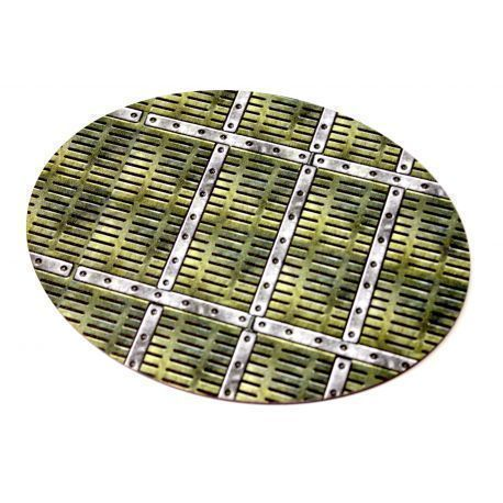 160X120 mm mm Industrial X1 - Pre Painted Bases ( 40k , AoS, Infinity , Malifaux, Warlord Games)
