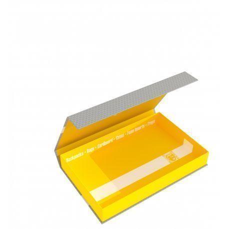 Feldherr Magnetic Box half-size 40 mm yellow empty