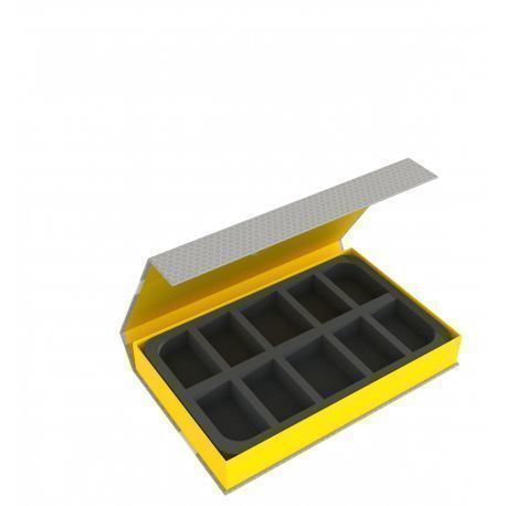 Feldherr Magnetic Box yellow for 10 larger miniatures