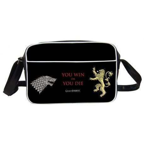 YOU WIN OR YOU DIE BOLSO BANDOLERA NEGRA GAME OF THRONES