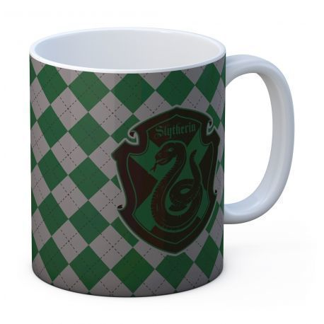 SLYTHERIN TAZA BLANCA CERAMICA HARRY POTTER