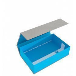 Feldherr Magnetic Box half-size 75 mm blue empty
