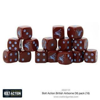 British Airborne D6 Dice (16)