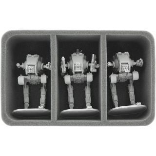85 mm (3.35 inches) half-size foam tray with 3 large compartments for Star Wars Imperial Assault Miniatures