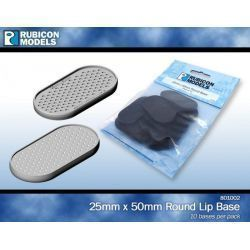 25mm x 50mm Round Base (Pack of 10)