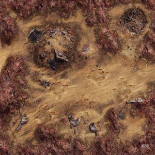 Star Wars: Legión Tapete del Depósito de chatarra del desierto
