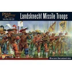 Plastic Landsknechts missile troops