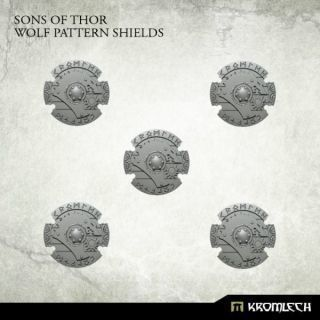 SONS OF THOR: WOLF PATTERN SHIELDS (5)