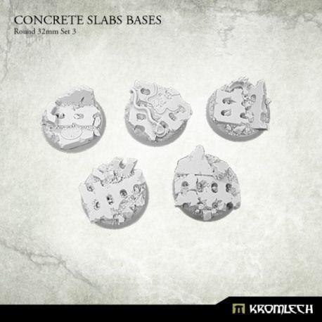 CONCRETE SLABS ROUND 32MM SET 3 (5)
