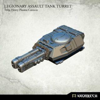 LEGIONARY ASSAULT TANK TURRET: TWIN HEAVY PLASMA CANNON (1)