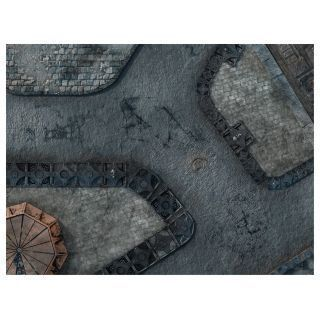 "KT Mat Imperial City -1- 22""x30"" Compatible with Warhammer, Warhammer 40K and other Wargames"