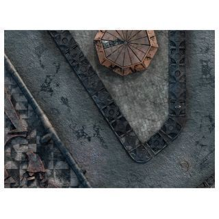 "KT Mat Imperial City -2- 22""x30"" Compatible with Warhammer, Warhammer 40K and other Wargames"