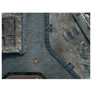 "KT Mat Imperial City -4- 22""x30"" Compatible with Warhammer, Warhammer 40K and other Wargames"