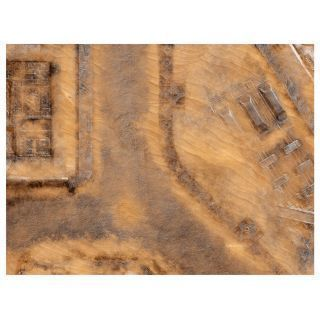 "KT Mat Imperial City Desert -4- 22""x30"" Compatible with Warhammer, Warhammer 40K and other Wargames"