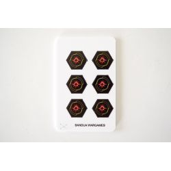 Critical Damage tokens (6) - Full Color compatible with X-Wing
