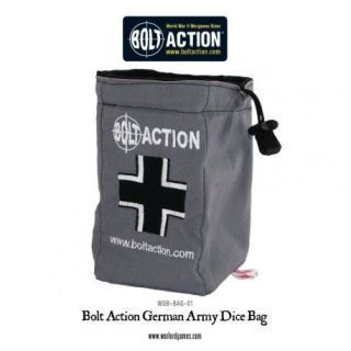 Bolt Action German Army Dice Bag and Order Dice (Grey)