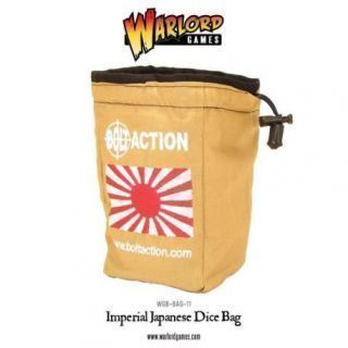 Imperial Japanese Dice Bag and Order Dice (White)