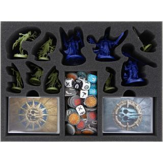 Feldherr foam tray set for Warhammer Underworlds: Nightvault core game box