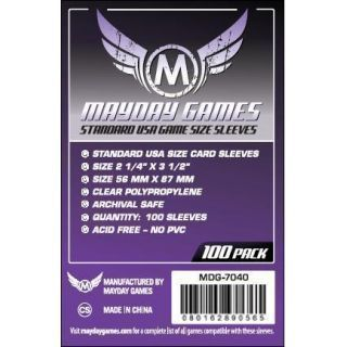 Mayday: Purple Label: Standard USA Clear Sleeves (100 pack)