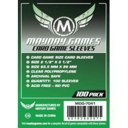 Mayday: Green Label: Standard Card Games Clear Sleeves (100 pack)