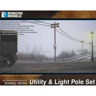Utility and Light Pole Set
