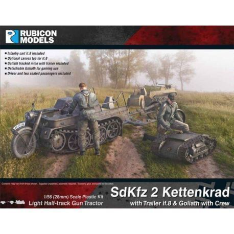 SdKfz 2 Kettenkrad With Trailer and Goliath