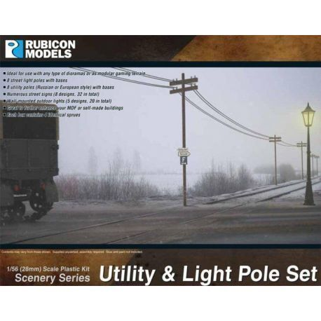 Utility and Light Pole Set