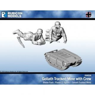 Goliath Tracked Mine with Crew - Plastic Figures