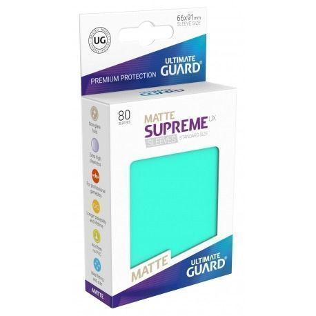Fundas Supreme UX Mate Color Turquesa (80 unidades)
