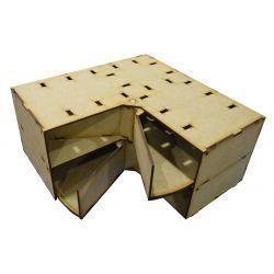 Fidalgo 2 Drawers Corner 30x30cm Racks para pintura modelismo y wargames