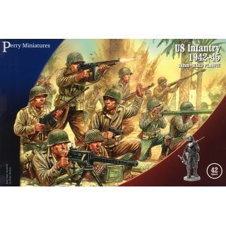 US Infantry 1942-45 (42 Plastic Miniatures)