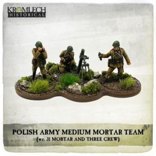 POLISH ARMY MORTAR TEAM