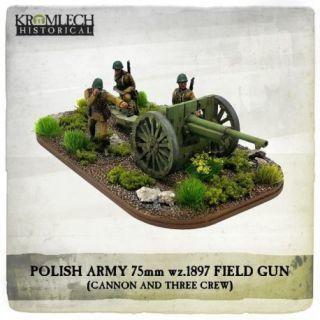 POLISH ARMY 1897 SCHNEIDER 75MM FIELD GUN WITH CREW
