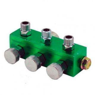 Colector para 3 Aerógrafos con Válvulas