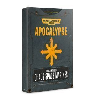 APOCALYPSE D/SHEETS: CHAOS S/MARINES ENG