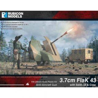 3.7cm Flak 43 with SdAh 58 & Crew